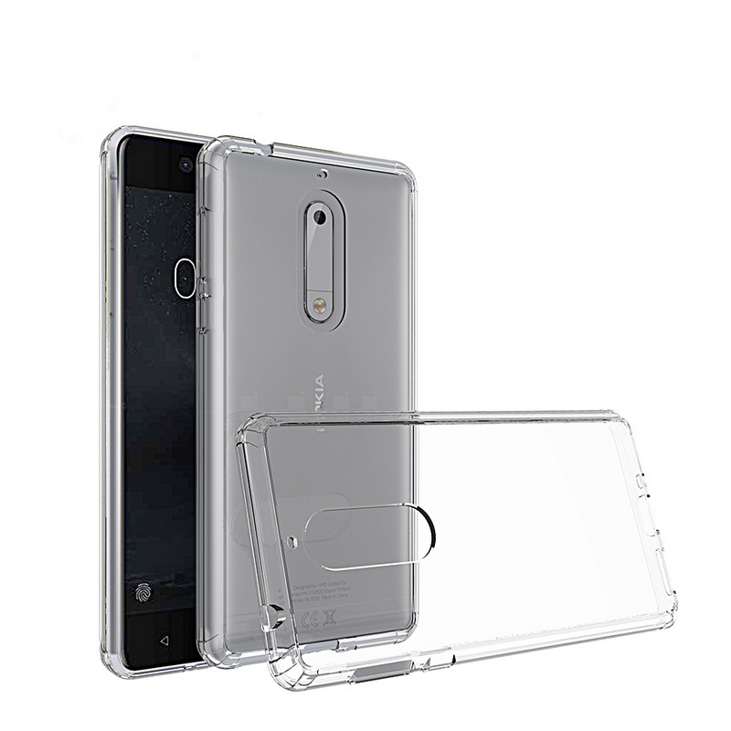 new concept 0710f c9a8c US $4.28 |For Nokia 6.1 Plus TPU Bumper + Hard PC Acrylic Clear Hybrid  Transparent Crystal Phone Cover Case For Nokia X6 1 3 5 6 8 3.1-in Fitted  Cases ...
