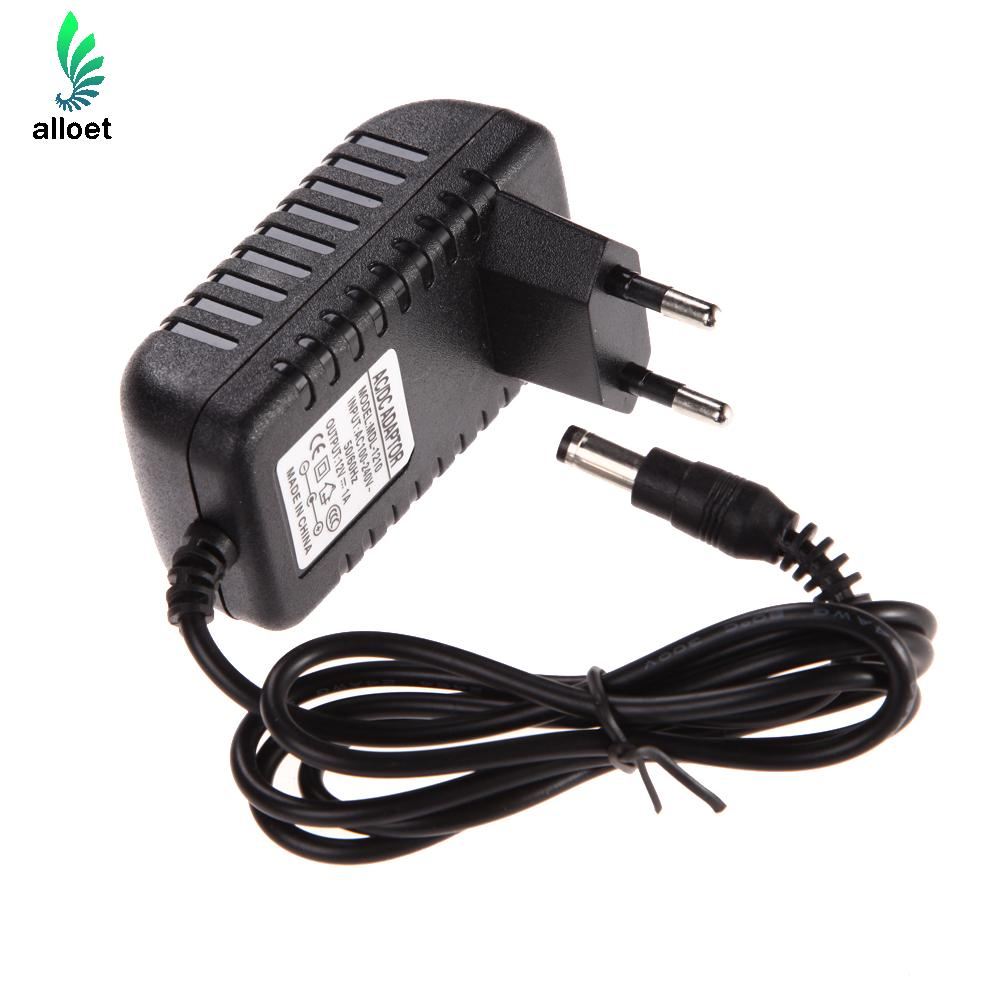 100% New AC 100-240V Converter Adapter DC 5.5 x 2.5MM 12V 1A 1000mA Charger EU Plug Free Shipping