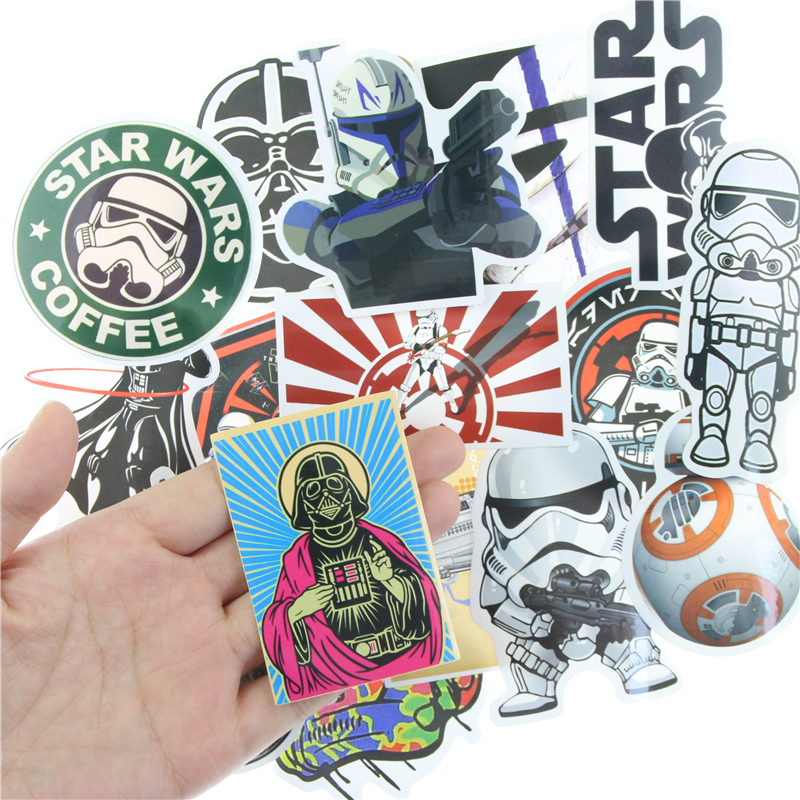 25pcs kinds star wars waterpoof fuel cap creative sticker for skateboard laptop luggage fridge phone styling home toy stickers in stationery sticker from