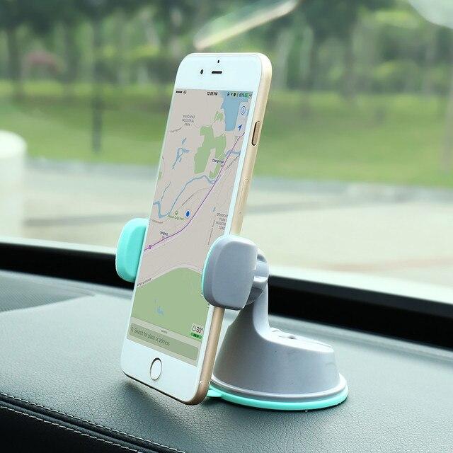 CASEIER Car Phone Holder For Mobile Phone Universal Air Vent + Dashboard Windshield 2 in 1 Car Holders Stand telefon tutucu 5