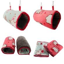 Мягкие кровати для маленьких питомцев, зимний теплый коврик для питомцев С Подогревом, домик для маленьких питомцев, спальный мешок, гнездо, пещера, кровать, гамак для хомяка, хорька