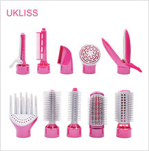 Promo offer Freeshipping 10 in1 Multifunctional Hair curlers styling tools hair sticks hair dryer hair brush with rotation diagnostic-tool