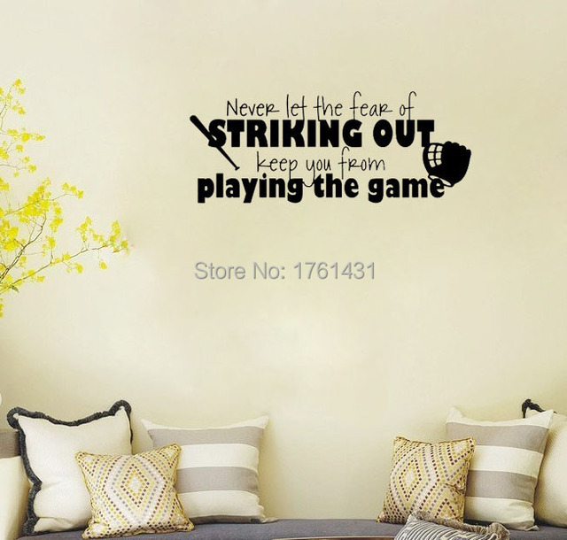 Baseball Softball Wall Decals Vinyl Stickers Home Decor Living - Vinyl wall decals home party