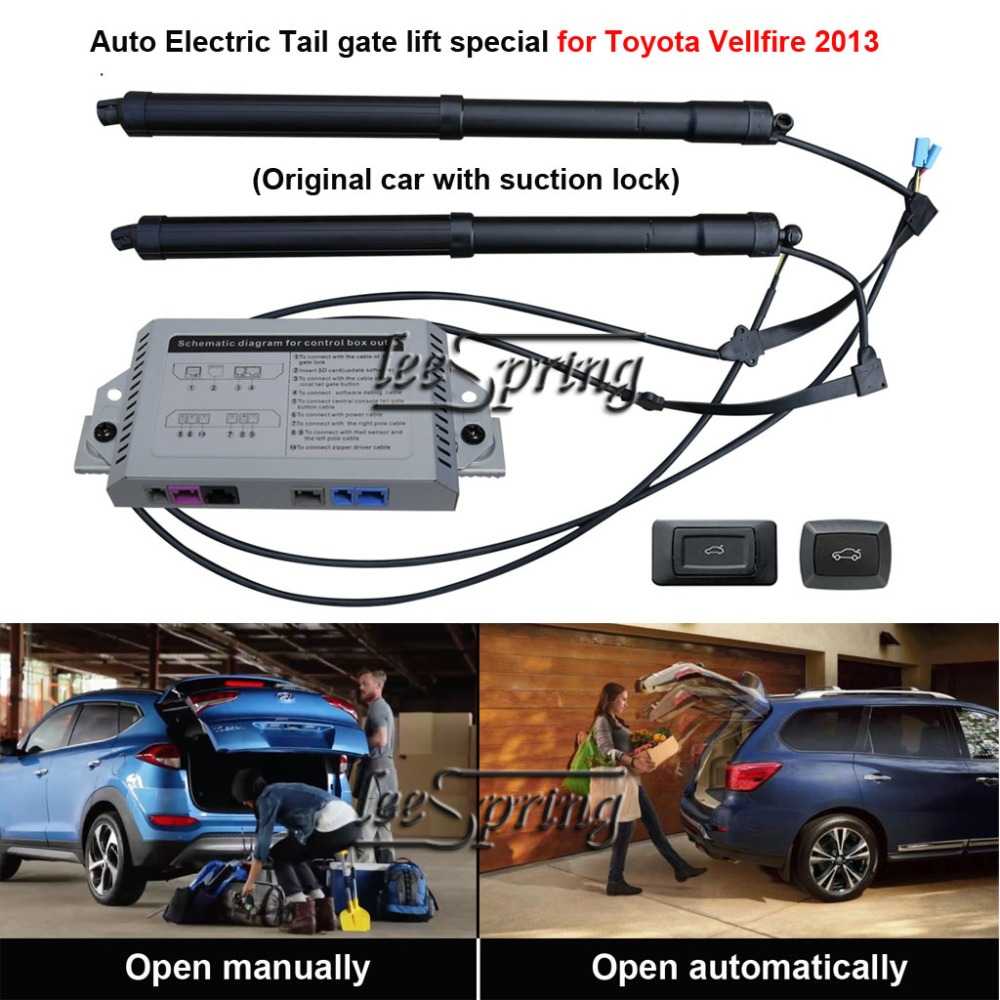 Smart Auto Electric Tail Gate Lift Special For Toyota Vellfire 2013 Original Car With Suction Lock