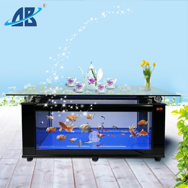 2016 Quality improvement aluminum coffee table aquarium tank fish