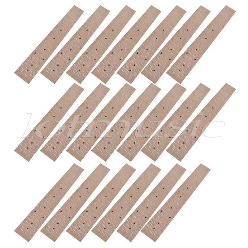 20pcs Maple Wood 23 inch Ukuele Concert Ukulele Fretboard Fingerboard 18 Frets niko black 21 23 26 ukulele bag silver edge nylon soprano concert tenor soft case gig bag 5mm thick sponge