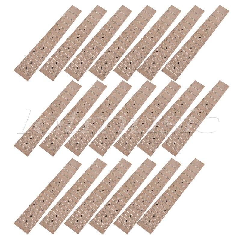 20pcs Maple Wood 23 inch Ukuele Concert Ukulele Fretboard Fingerboard 18 Frets 12mm waterproof soprano concert ukulele bag case backpack 23 24 26 inch ukelele beige mini guitar accessories gig pu leather