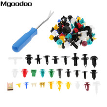 200Pcs/30kinds Universal Door Bumper Panel Fender Retainer Fastener Rivet Plastic Clip+Car Auto Pliers Tool