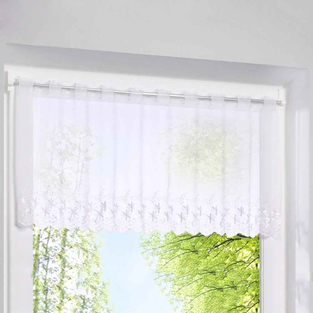 terence blanco cortina ciega bordado cortina de caf pequea puerta ventana tulled pantalla persianas romanas cortinas