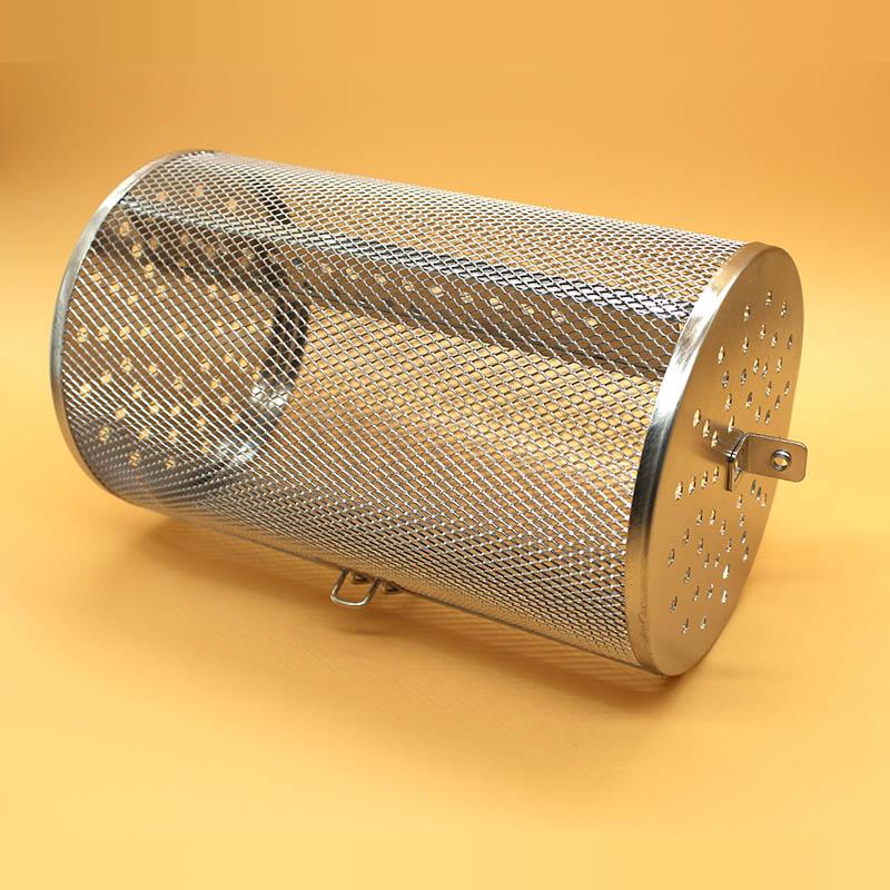 Rotisserie Grill Basket stainless steel for oven green coffee roaster grinder maker filter BBQ peanut bean roasting machine mesh(China)