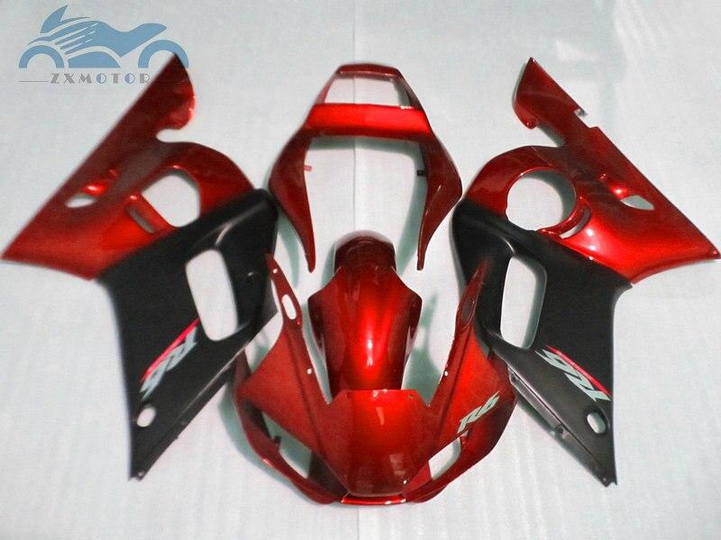 Personnalisé que vous avez besoin kit de carénages de moto pour YAMAHA R6 YZFR6 1998-2002 YZF R6 98-02 carénage de corps de course de sport rouge noir EB65 - 2