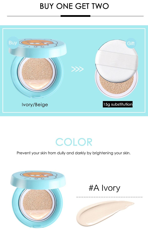 Кроссовки на воздушной подушке BB крем изоляция ВВ nude консилер, масло увлажняющий шампунь для 15gX2 макияж бренд HengFang# H8470