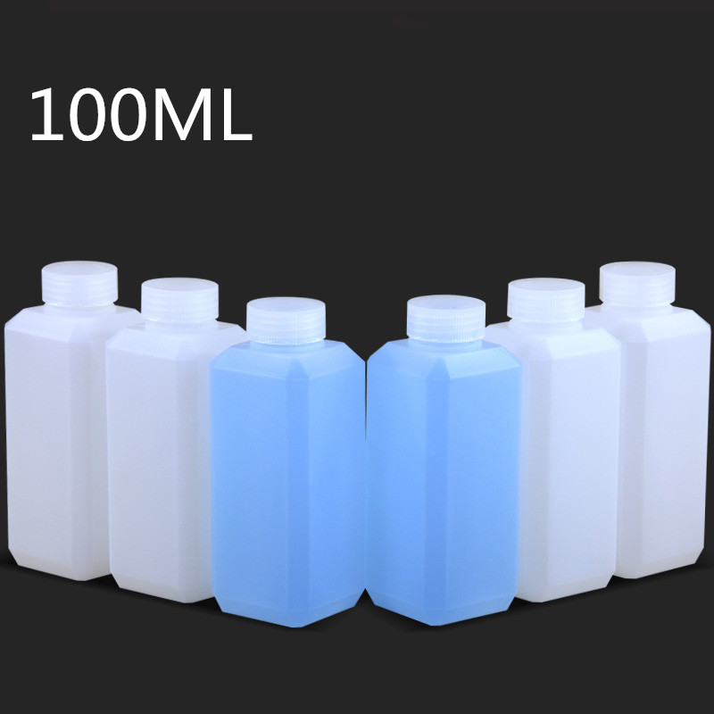 20PCS Empty Refillable Bottle 100ML Small Plastic Container Cosmetic Liquid,Lition,Shampoo Bottles Food Grade HDPE