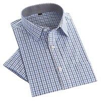 2016 Summer Men Shirts Short Sleeve Plaid Man S Shirt High Quality Male Casual Tops Business