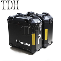 Motorcycle 36L Pair Side Box Side Case Saddle Bag Pannier Cargo For BMW F800GS F800R 2009 2014 Universal