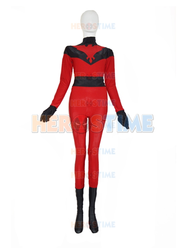Crimson Hawk Red Custom Superhero Costume Zentai Lycra Spandex Halloween Cosplay Zentai Bodysuit Catsuit Custom Free Shipping