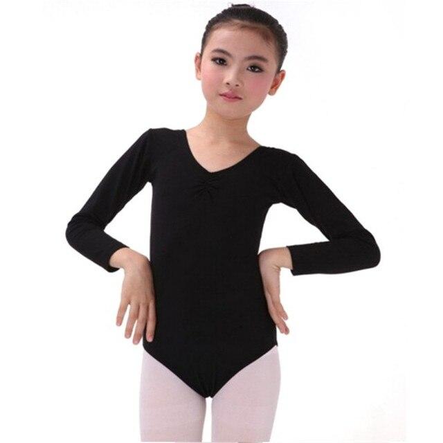 Miúdo Meninas De Manga Longa Ballet Vestido da Dança de Fitness Traje Desgaste Collant de Ginástica