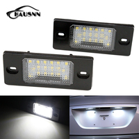 2Pcs Set HAUSNN Canbus Error Free White 18SMD LED Number License Plate Lights For VW Touareg