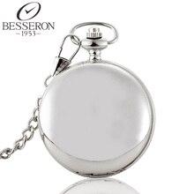 Мужчины Стимпанк Карманные Часы Механическая Серебряный Скелет Ожерелье Кулон Цепи Мужские Reloj Полые Резьба Homme Montre Де Пош