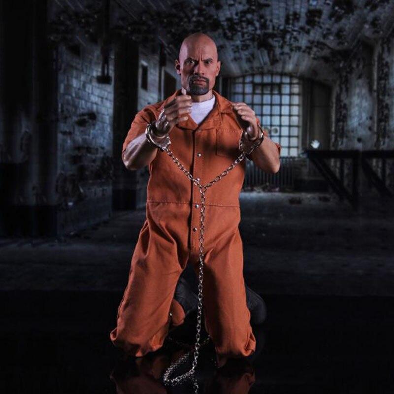 1 6 Scale Fast F8 Luke Hobbs Male Man Boy Prisoner Clothing Set for 12 Inches