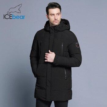 2019a7bae7b ICEbear 2018 зимняя куртка Для мужчин толстые теплые Одежда высшего  качества Водонепроницаемый одежда с замком-молнией для мужчин 17MD942D