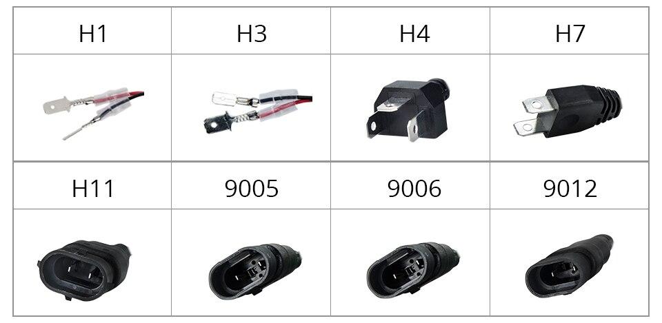 Aceersun 2Pcs 9005 HB3 9006 HB4 H11 H4 H7 Led H1 Auto Car Headlight 72W 8000LM 6500K Automobile Bulb COB CHIP 4300k H3 Fanless (11)