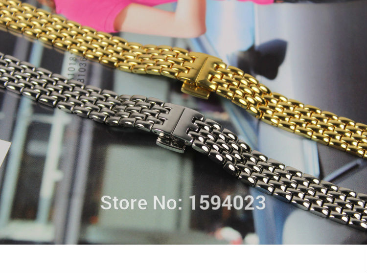 10mm T058009A T-TREND High Quality New Watch Parts Solid Stainless steel bracelet strap Watch Bands For T058 Free Shipping