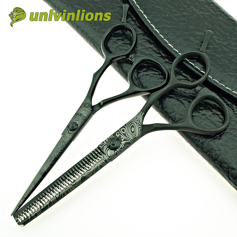 univinlions 5cutting scissor 5.5 thinning shears japan hair scissors hairdressing scissors haircut barber kit hair style salon 6 inch salon hair scissors styling tool stainless steel hairdressing shears cutting thinning scissor