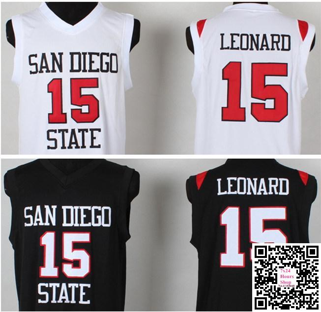 5e6b0be22 ... sweden sports mvp 15 kawhi leonard jersey san diego state university  black white kawhi anthony leonard