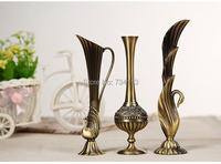 Classic royal Vase European style small vase alloy home decoration ornaments furnishings creative home decorations 1 piece cool
