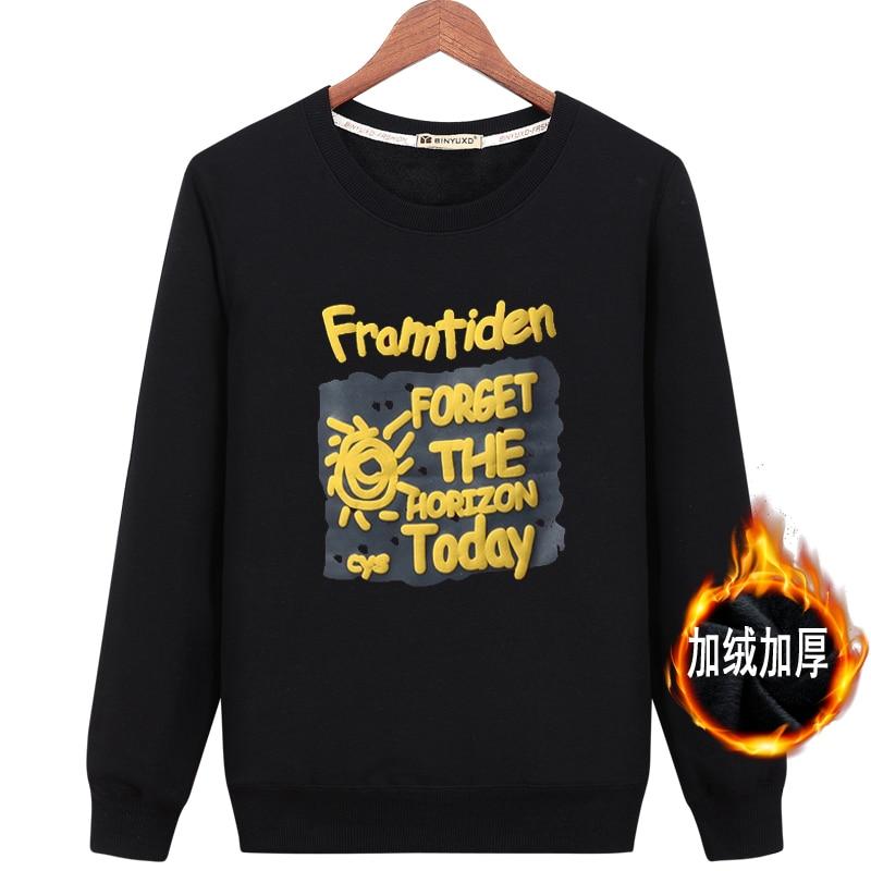 hot sale 2017 New Autumn Winter Warm Thicken hipster hoodies black top print sweatshirts ...