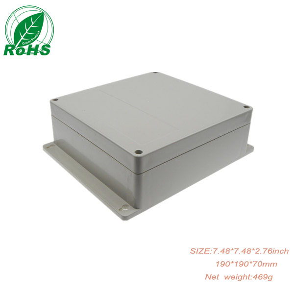 Wall Mounted Waterproof Plastic Electronic Project Box Enclosure 190*190*70mm 7.48*7.48*2.76inch 1pcs/lot 4pcs a lot diy plastic enclosure for electronic handheld led junction box abs housing control box waterproof case 238 134 50mm