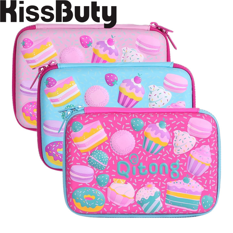 Cake Pencil Case Big Capacity Painting Colored Pencil Bag For Girls Double Zipper Cute School Pencil Box Stationery Art Supplies kawaii cartoon girls folding multifunction school supplies pencil case cute stationery pen bag pouch box pencilcase for gir b157