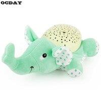 Baby Sleep LED Night Light Plush Stuffed Animal Toys Projector Sleeping Luminous Light Music Sky Star