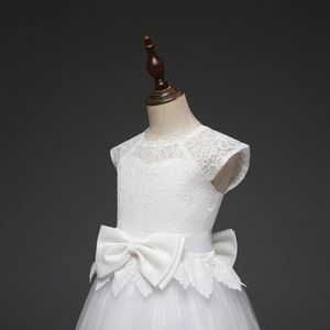 Image 5 - Lace Teen Girls Dress 2018 New Tule Child Wedding White Princess Pageant Gown Bridesmaid Dresses For Kids Party Evening Clothing