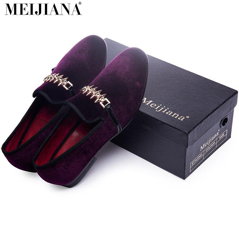 Zapatos de hombre de lujo  hombre holgazán zapatos Púrpura hebilla de metal homb