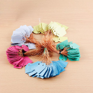 100pcs New PVC Mini Wrapped Gift Tag Card, Waterproof Clothing Label, Scrapbook, Flower Label, Gardening 36mm X 25mm