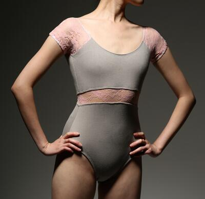 Professional women adult Ballet leotard lace sleeve lace waist uniforms