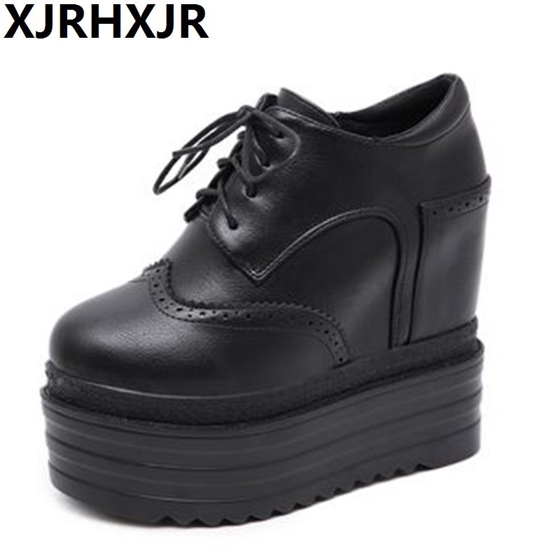 Модная женская обувь на высоком каблуке 15 см, прошитая обувь на платформе с круглым носком для вечерние, верхняя одежда, женские туфли лодоч