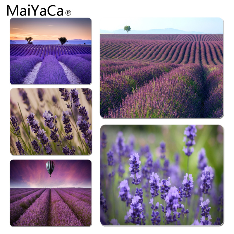 MaiYaCa New Designs Lavender Office Mice Gamer Soft Mouse Pad Size for 180x220x2mm and 250x290x2mm Small Mousepad