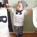 2017 estilo verão conjuntos de roupas de moda infantil roupas de bebê menino de algodão letras impressas recém-nascidos 2 pcs terno do bebê roupas de menina