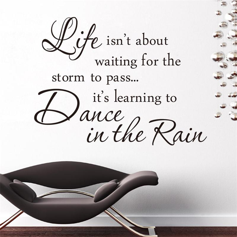 Inspiration Quote Life Is Dance In The Rain Sayings Home