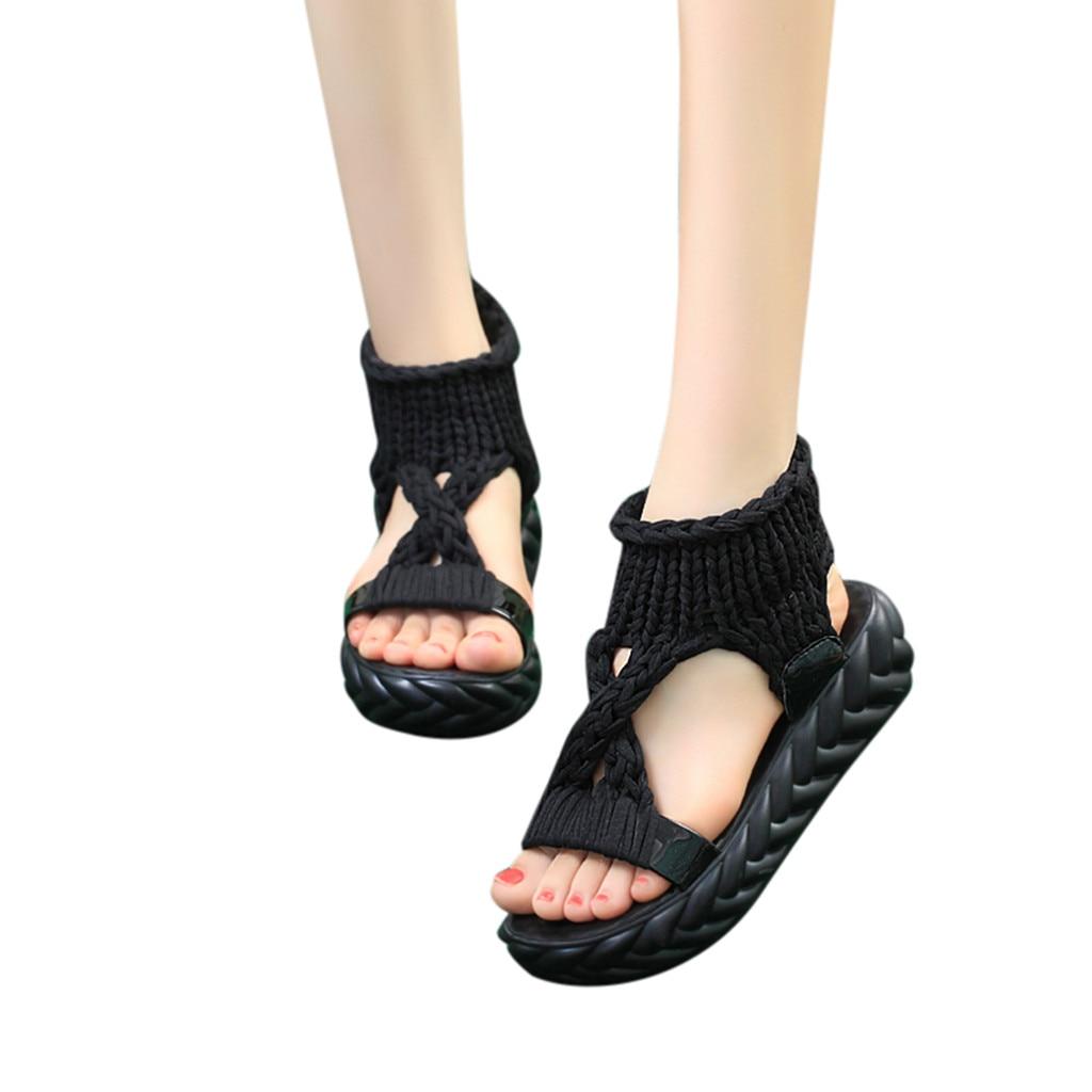 Women Ladies Summer Fashion Platform Sandals Comfort Big Size Casual Shoes Women Flat Summer Beach Ladies Shoes #g2