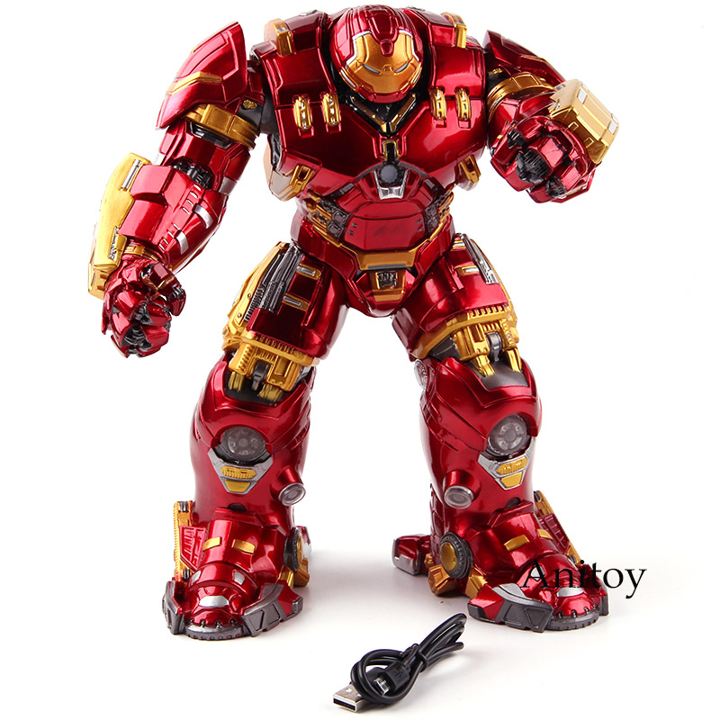 Avengers Age of Ultron Action Figures Marvel Hulkbuster Iron Man Mark 44 with Light PVC Collectible Model Toy Statue