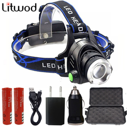 High Quality XM-L U3 T6 Led Headlamp Zoom Headlight Waterproof Head Flashlight Lamp Torch Bulbs for 18650 Battery Bike Light 10W