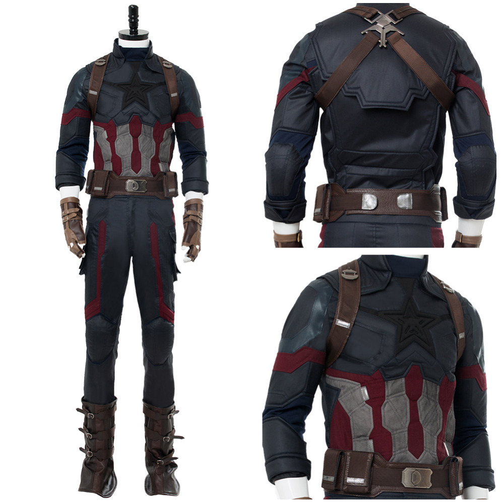 Avengers: Infinity War Captain America Steven Rogers Cosplay Costume Outfit Adult Men Halloween Carnival Steve Rogers Costumes