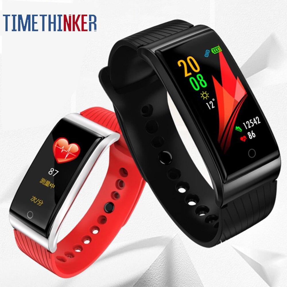 F4 bande intelligente pression artérielle moniteur de fréquence cardiaque hommes femmes Bracelet Fitness sport montre podomètre Bracelet en métal intelligent