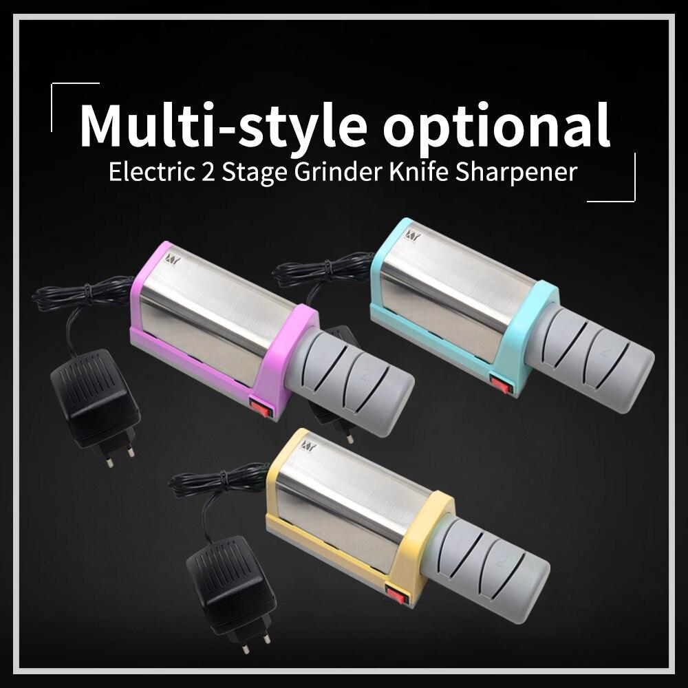 XYj Elétrica Afiador de facas de Diamante & Sharpener de Faca De Cozinha Em Cerâmica 2 Fase Moedor Afiação Cerâmica Plugue DA UE