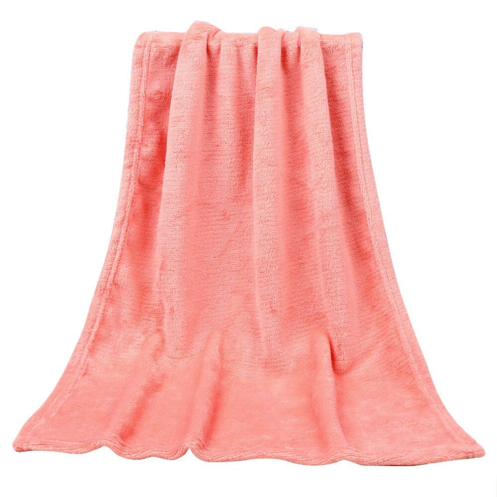 45*65CM Fashion Solid Soft Throw Kids Blanket Warm Coral Blankets Flannel