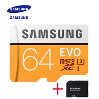 100 Original SAMSUNG EVO Memory Card Micro SD TF Card 32GB 64GB 128GB Class10 U3 4K